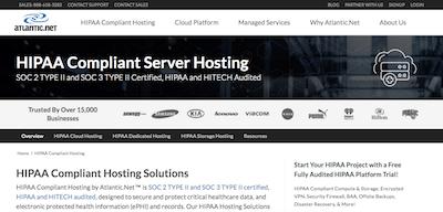 Atlantic HIPAA compliant hosting review