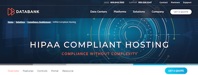 DataBank HIPAA compliant hosting review